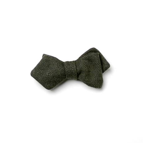 Curie Bow Tie// Grey + Green