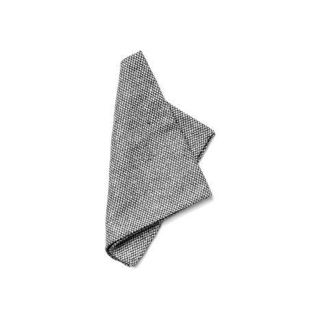 Fleming Pocket Square // Grey + White