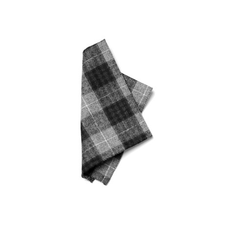 Nightingale Pocket Square // Black + Grey
