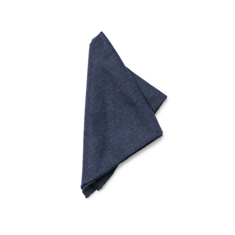 Brandt Pocket Square // Navy + Black