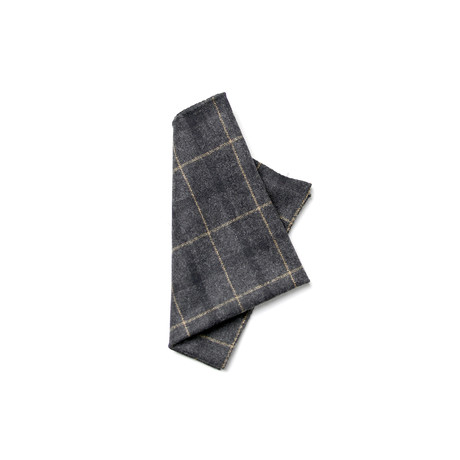 Lehmann Pocket Square // Black + Grey