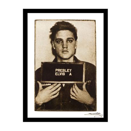"Mugshot // Elvis Presley (12""W x 16""H x 1""D)"
