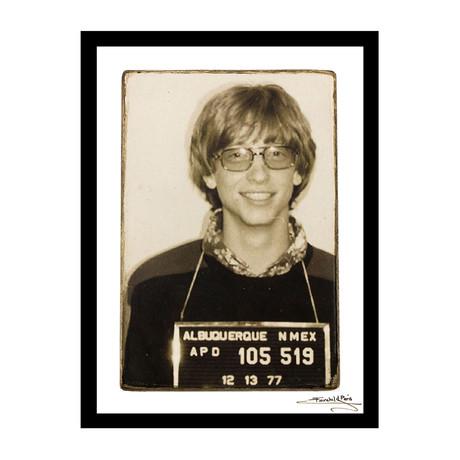 "Mugshot // Bill Gates (12""W x 16""H x 1""D)"