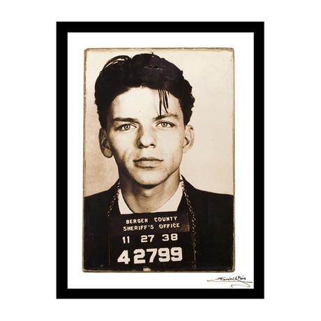 "Mugshot // Frank Sinatra (12""W x 16""H x 1""D)"