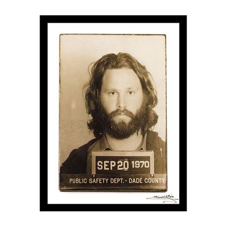 "Mugshot // Jim Morrison (12""W x 16""H x 1""D)"
