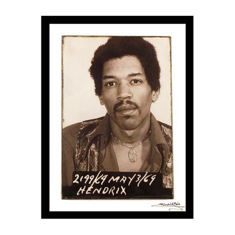 """Mugshot // Jimi Hendrix (12""""W x 16""""H x 1""""D)"""