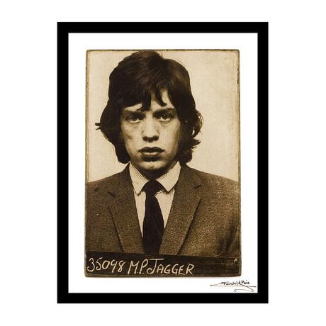 """Mugshot // Mick Jagger (12""""W x 16""""H x 1""""D)"""