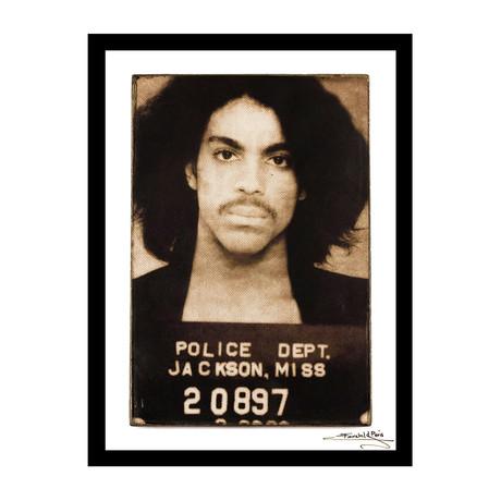 "Mugshot // Prince (12""W x 16""H x 1""D)"