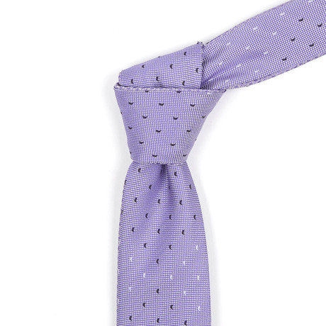 Reversible Tie // Orchid + Purple Patterned