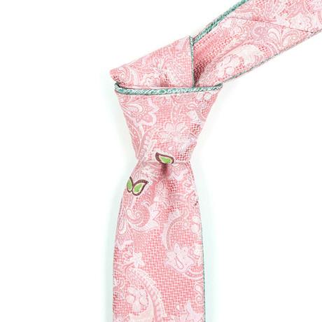 Reversible Tie // Pink + Olive Floral
