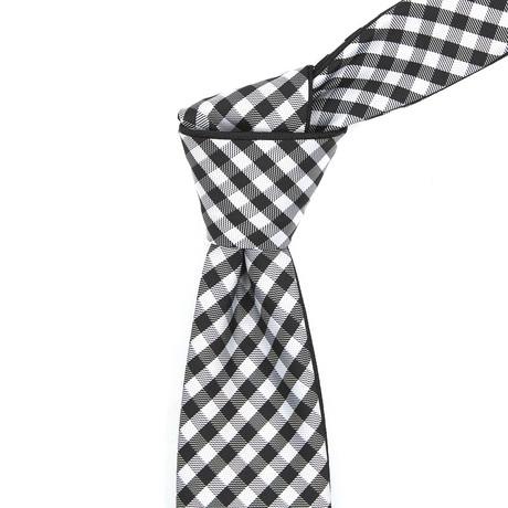 Reversible Tie // Black + White Checkered