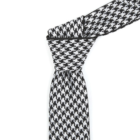 Reversible Tie // Black + White Patterned