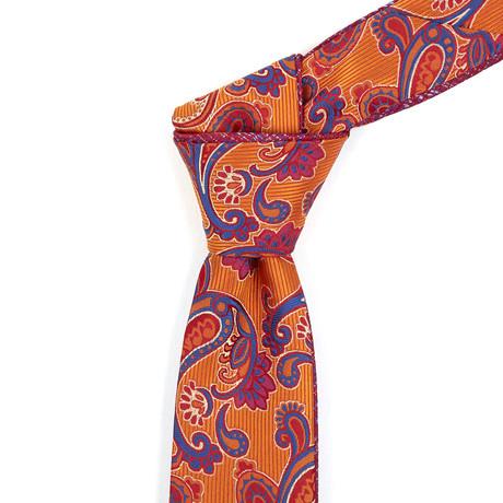 Reversible Tie // Orange + Fuchsia Plaid
