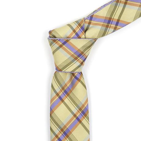Reversible Tie // Yellow + Purple Plaid