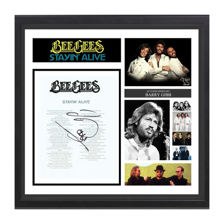 Signed + Framed Lyric Collage // The BeeGees