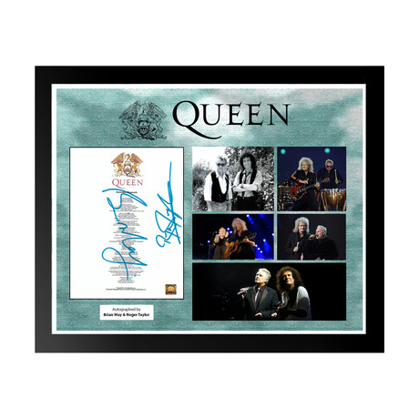 Framed Autographed Lyric Collage // Queen