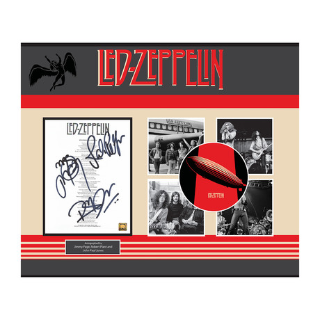 Framed Autographed Collage // Led Zeppelin // Stairway to Heaven