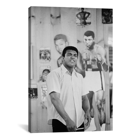 "Muhammad Ali Mean Mugging For The Camera (26""W x 18""H x 0.75""D)"