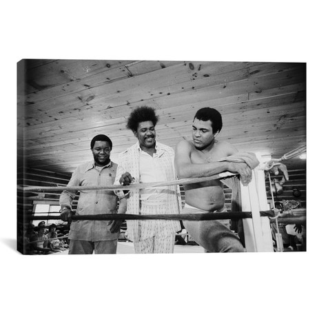 "Muhammad Ali, Promoter And Friend In A Corner Of The Ring (18""W x 26""H x 0.75""D)"