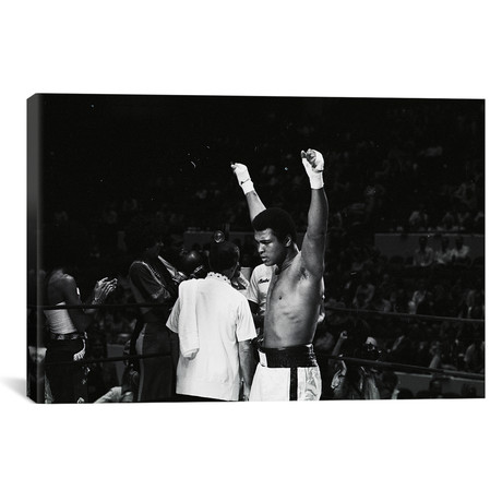 "Muhammad Ali With Hands Raised (18""W x 26""H x 0.75""D)"