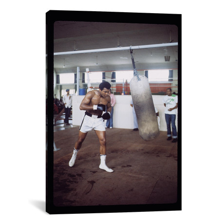 "Punching Bag Work At Rumble In The Jungle? Training Session (26""W x 18""H x 0.75""D)"