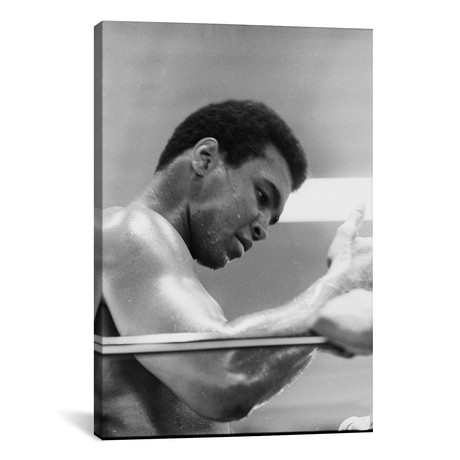"Side View Of Muhammad Ali In The Corner II (26""W x 18""H x 0.75""D)"