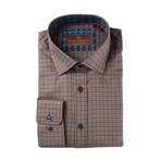 Woven Spread Collar Shirt // Brown Plaid (XS)