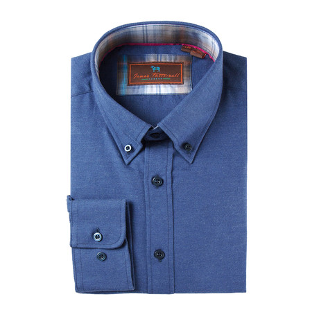 Woven Button Down Shirt // Blue (XS)