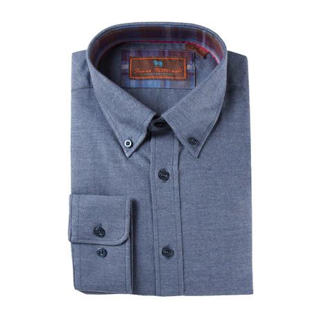 Woven Button Down Shirt // Navy (XS)
