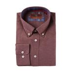 Woven Button Down Shirt // Maroon (XS)