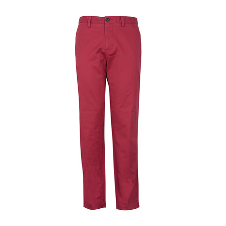 Chino Casual Pant // Red (32WX30L)