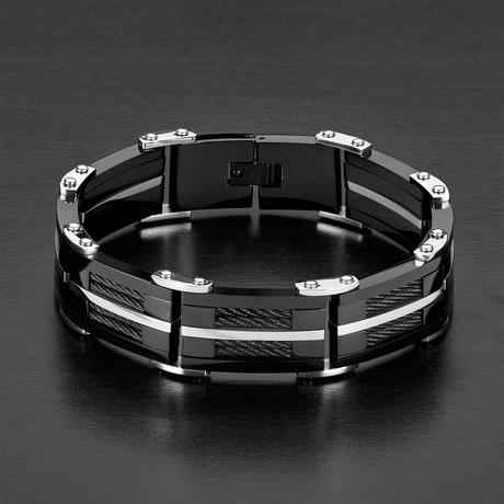 Cable Link Bracelet // Black
