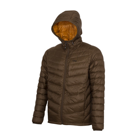 Cascade Hooded Down Jacket // Hickory (S)