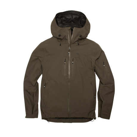 Santiam 3 Layer Jacket // Pine (S)