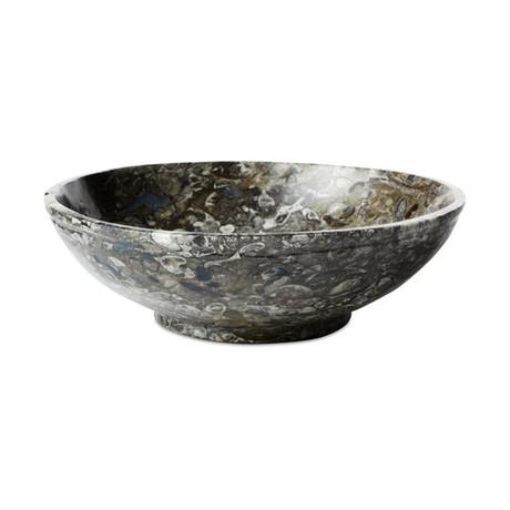 "Stone + Fossil Bowl // 10.5"" (10.5"" Dia)"