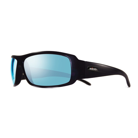 Gunner Sunglasses // Shiny Black + Blue Water