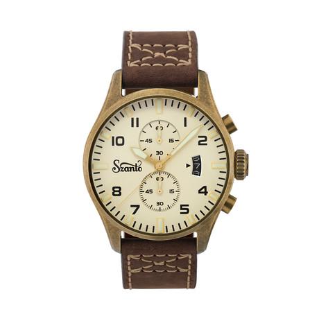 Szanto Vintage Pilot Chronograph Quartz // SZ 4002