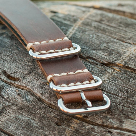Brillier Americana Strap (Turquoise Stitching)