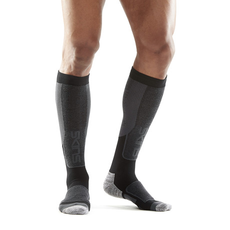 Thermal Compression SKI Snow Sock // Black + Pewter (XS)