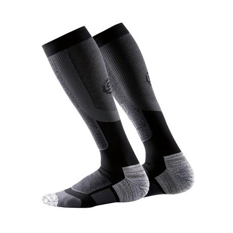 Thermal Compression SKI Snow Sock // Black + Pewter