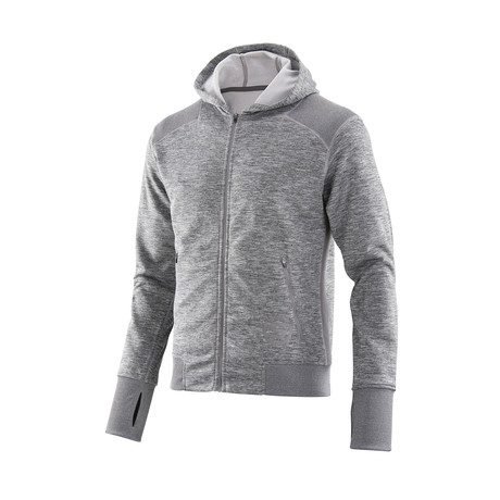Signal Tech Fleece Hoodie // Pewter Marle (Small)