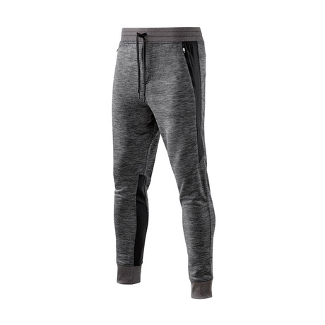 Binary Tech Fleece Pants // Black Marle (Small)