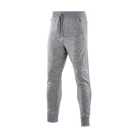 Binary Tech Fleece Pants // Pewter Marle (Small)