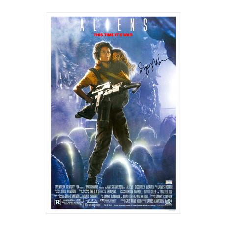 Sigourney Weaver // Autographed Aliens Poster