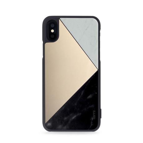 Puzzle // White + Gold + Black // iPhone X