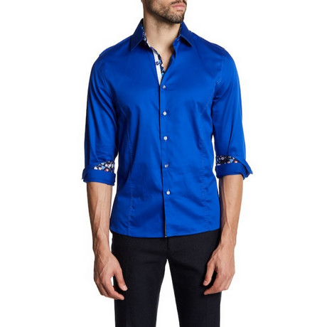 Joseph Slim-Fit Solid Dress Shirt // Royal