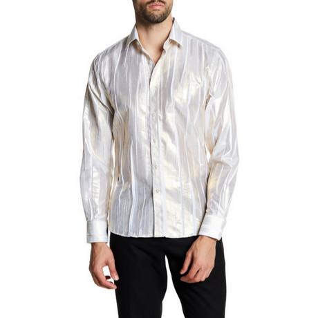 Timothy Slim-Fit Printed Dress Shirt // White