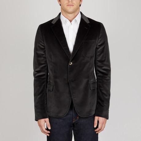 Solid Velvet Soft Jacket // Dark Grey (Euro: 48)