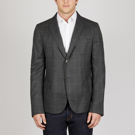 Window Pane Soft Jacket // Grey (Euro: 48)