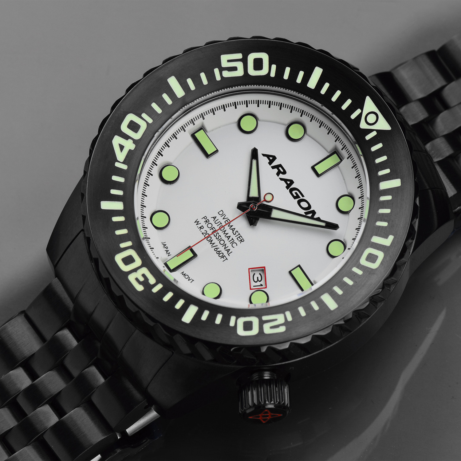 aragon automatic sales divemaster watches watch touch evo of large